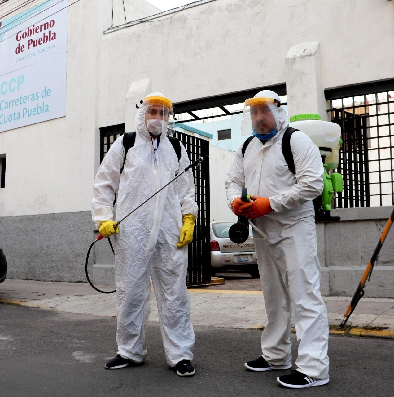 SE SANITIZAN INSTALACIONES DE CARRETERAS DE CUOTA PUEBLA