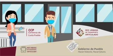 USO OBLIGATORIO DE CUBREBOCAS EN RUTA PUEBLA