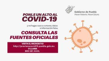 Cuídate del COVID-19, sigue las medidas de prevención.